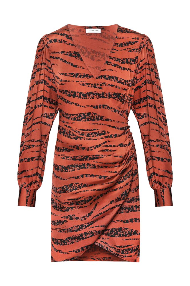 Anine Bing Penelope Dress Rust Zebra from The New Trend