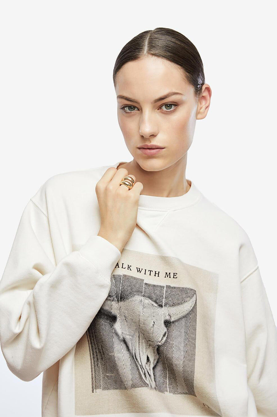 Anine Bing Ramona Sweatshirt Walk With Me at The New Trend