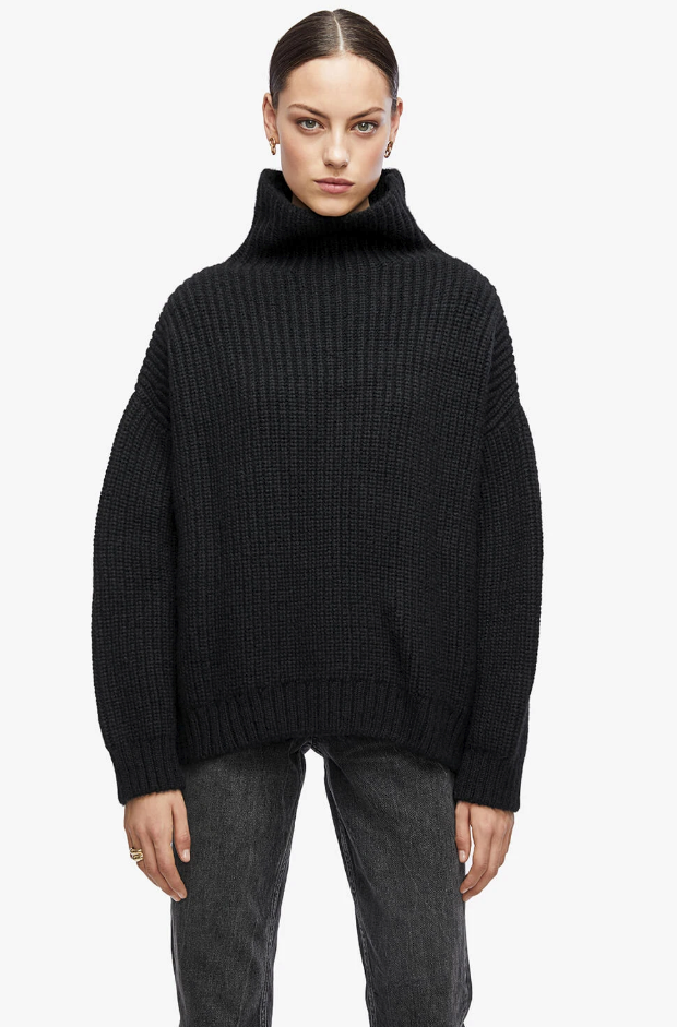 Anine Bing Sydney Sweater in Black from The New Trend