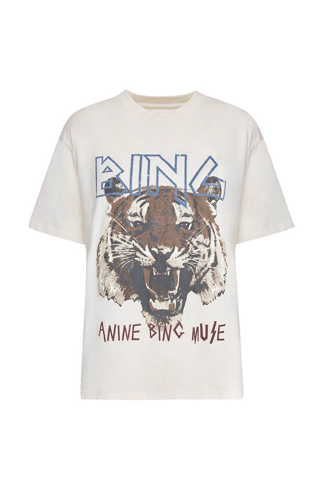 Anine Bing Tiger Tshirt in white from The New Trend