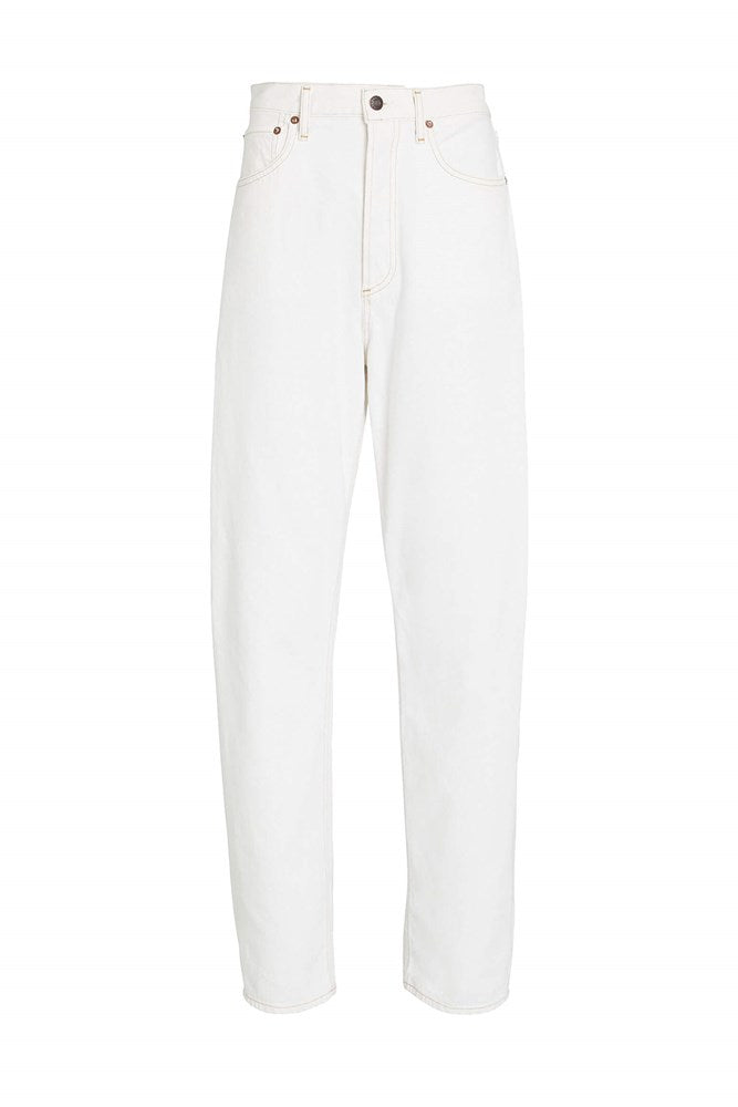 Agolde 90's Pinch Waist Straight Jean in Porcelain from The New Trend
