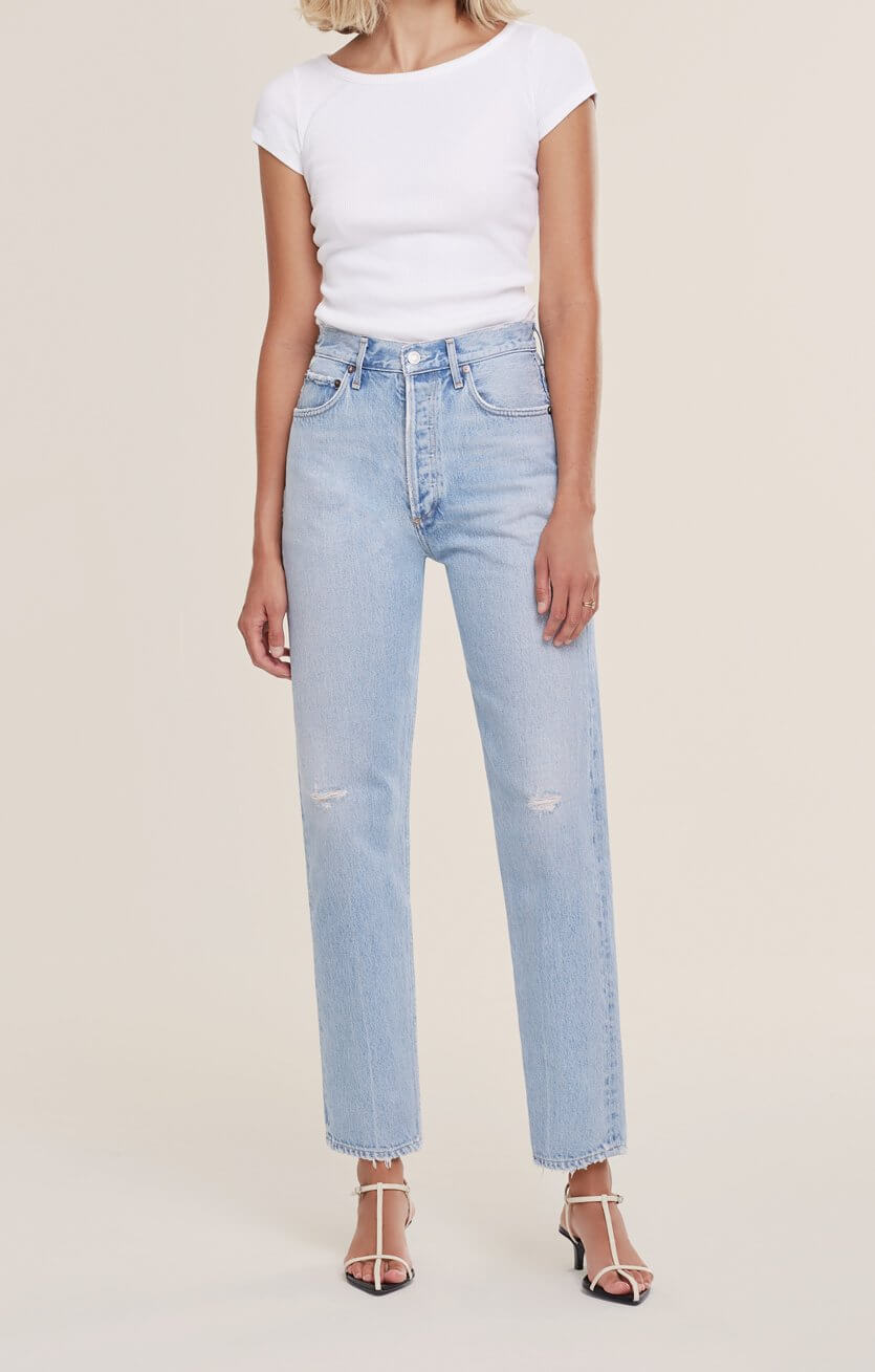 Agolde 90's Pinch Waist Jean in Flashback available at The New Trend