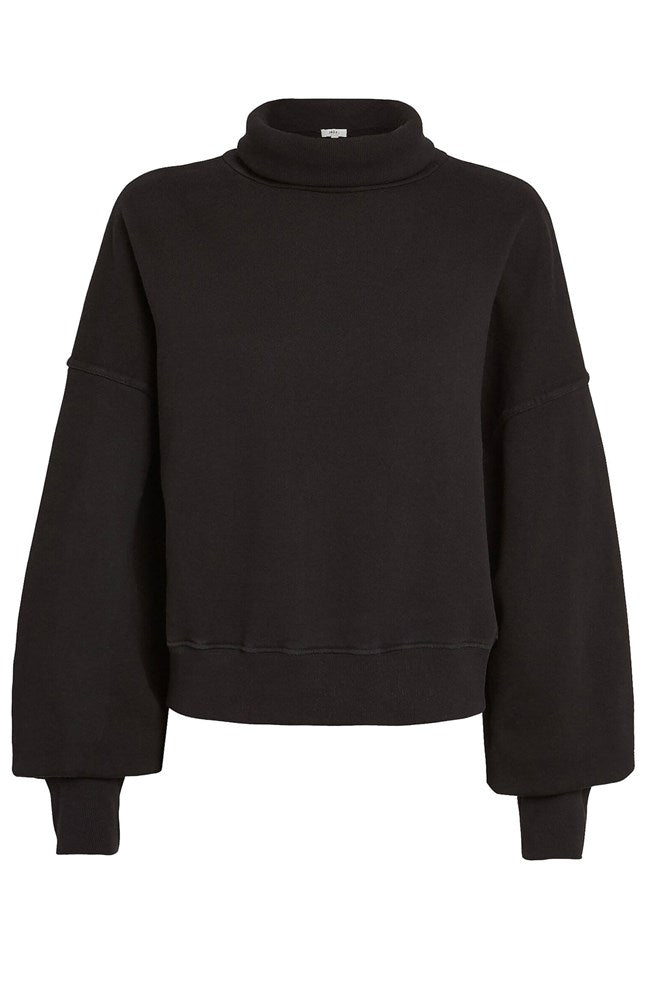 Agolde Balloon Sleeve Sweatshirt in Black from The New Trend