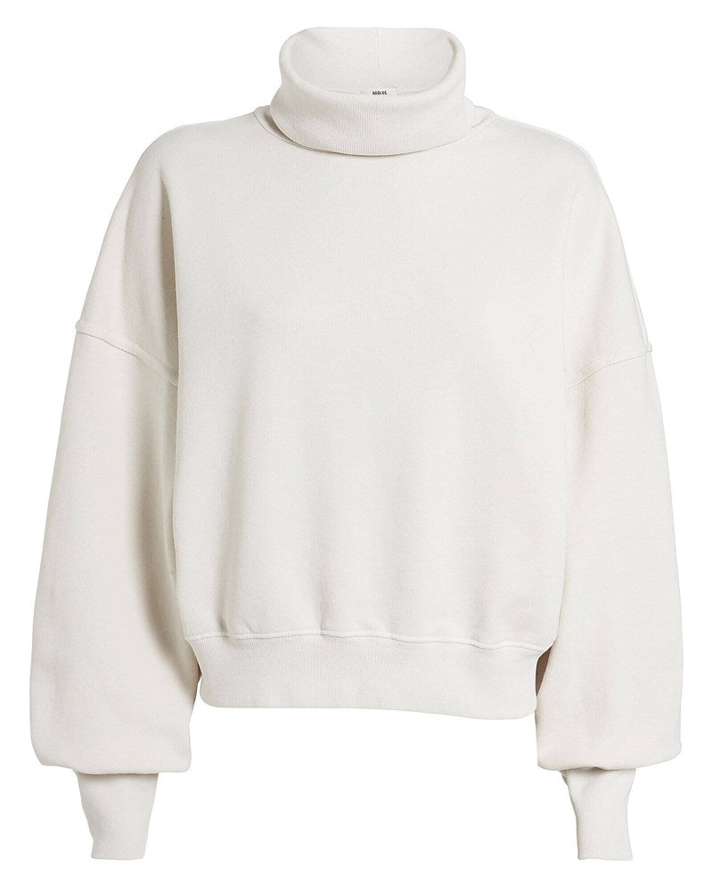 Agolde Balloon Sleeve Turtleneck in Plaster from The New Trend