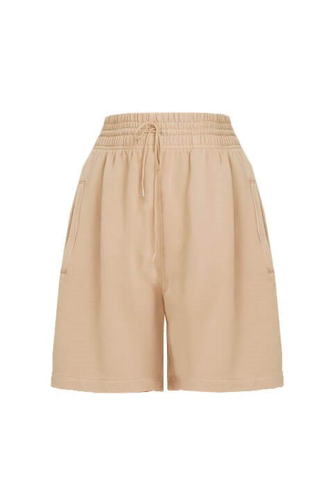 Agolde Women's Boxing Fleece Shorts Nude | The New Trend