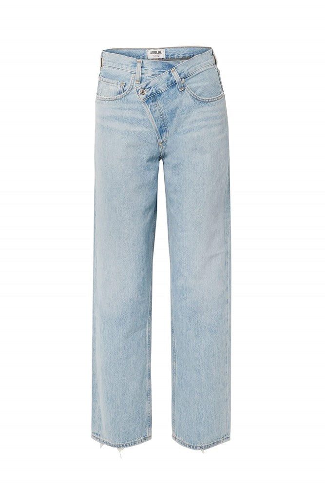 Agolde Criss Cross Upsized Jeans Mid Rise Straight Leg Women's Denim from The New Trend