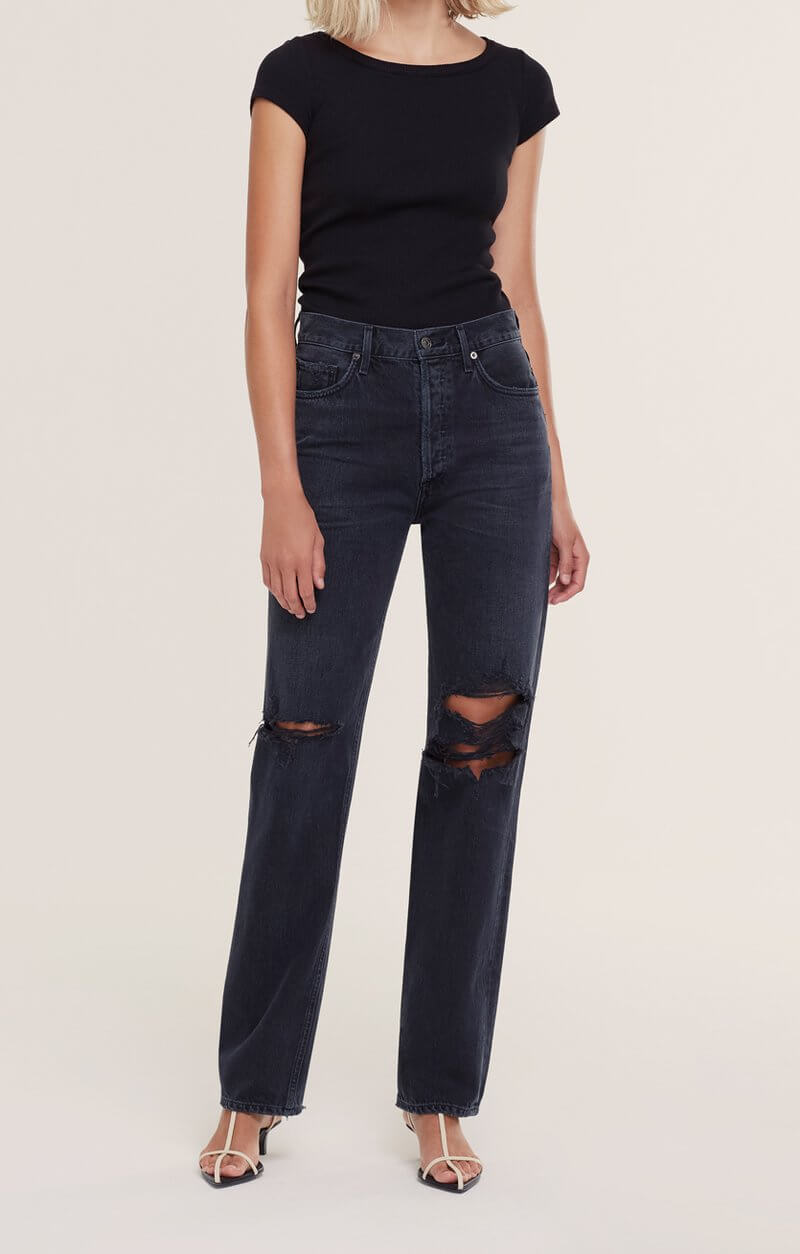 Agolde Lana Straight Jean in Disorder available at The New Trend