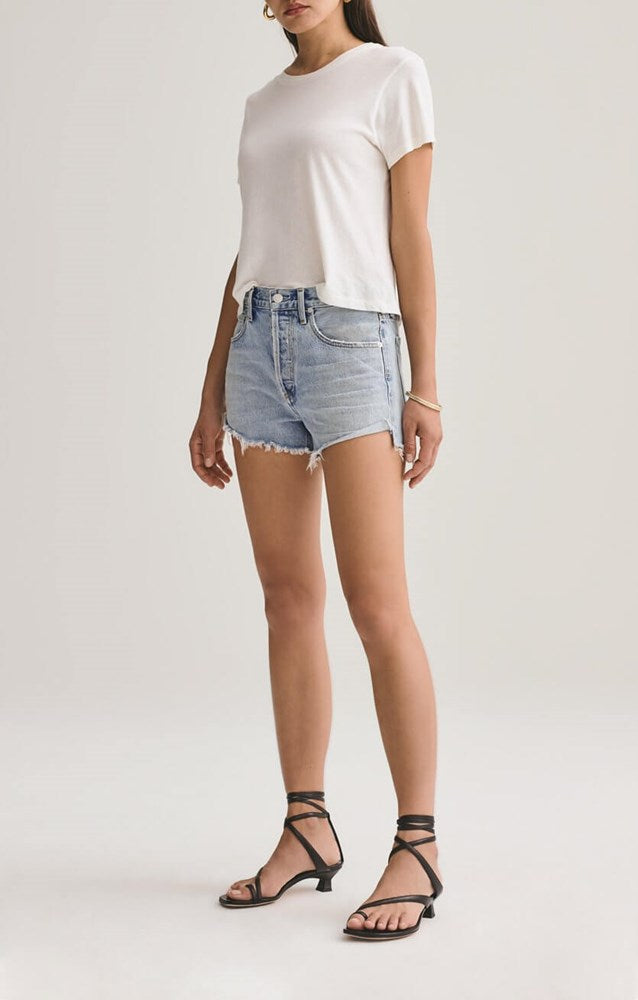 Agolde Parker Vintage Cut Off Short in Riptide from The New Trend