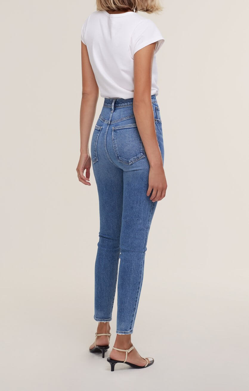 Agolde Pinch Waist Skinny Jean in Amped from The New Trend