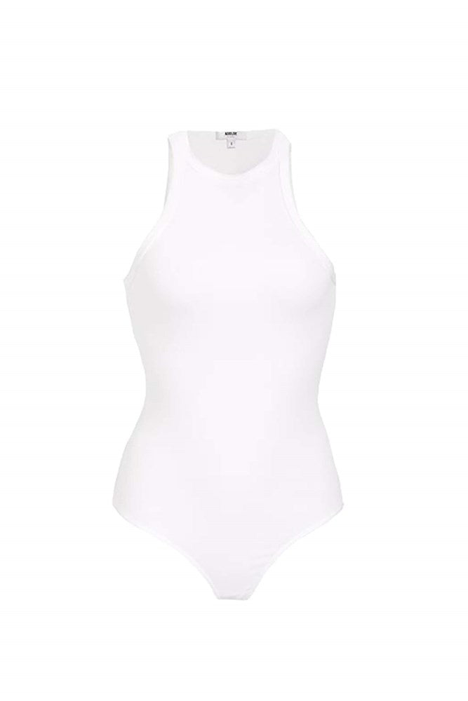 Agolde Rianne Bodysuit in White from The New Trend