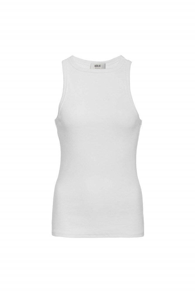Agolde Rib Tank in White from The New Trend