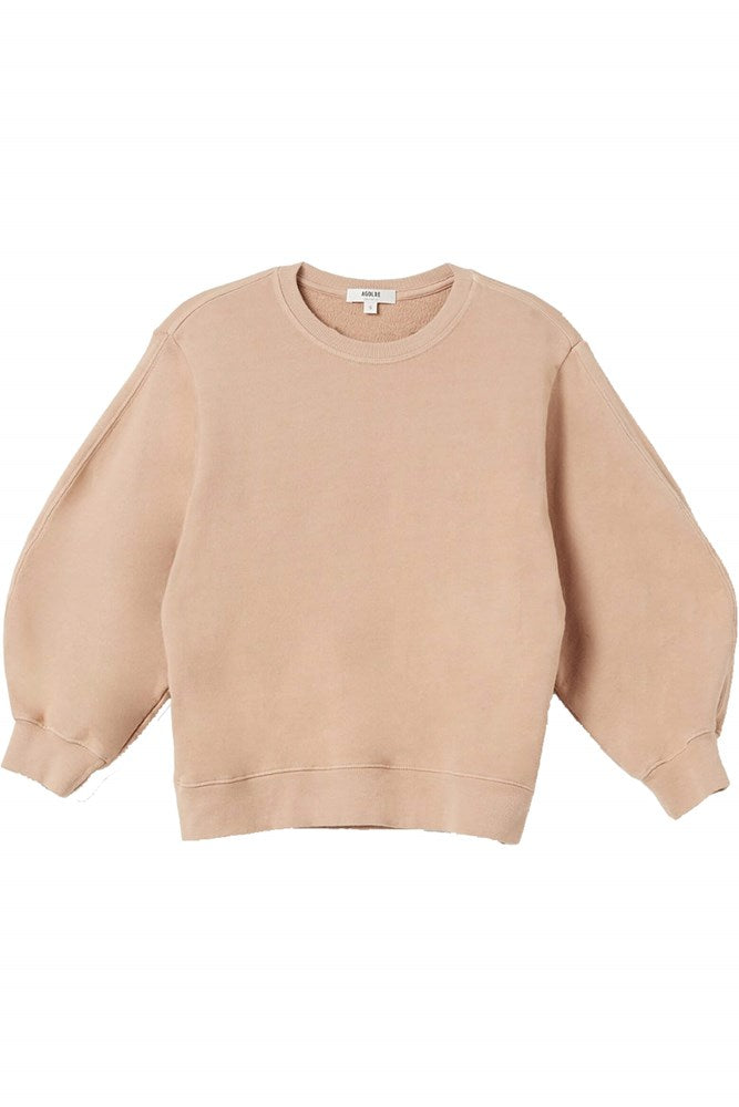 Agolde Thora 3/4 Sleeve Sweatshirt in Noodle from The New Trend