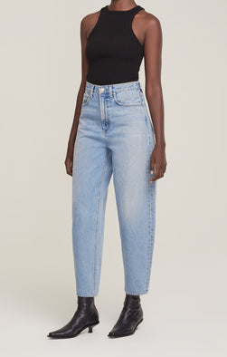 Agolde Balloon Ultra High Rise Curved Jean in Revival from The New Trend