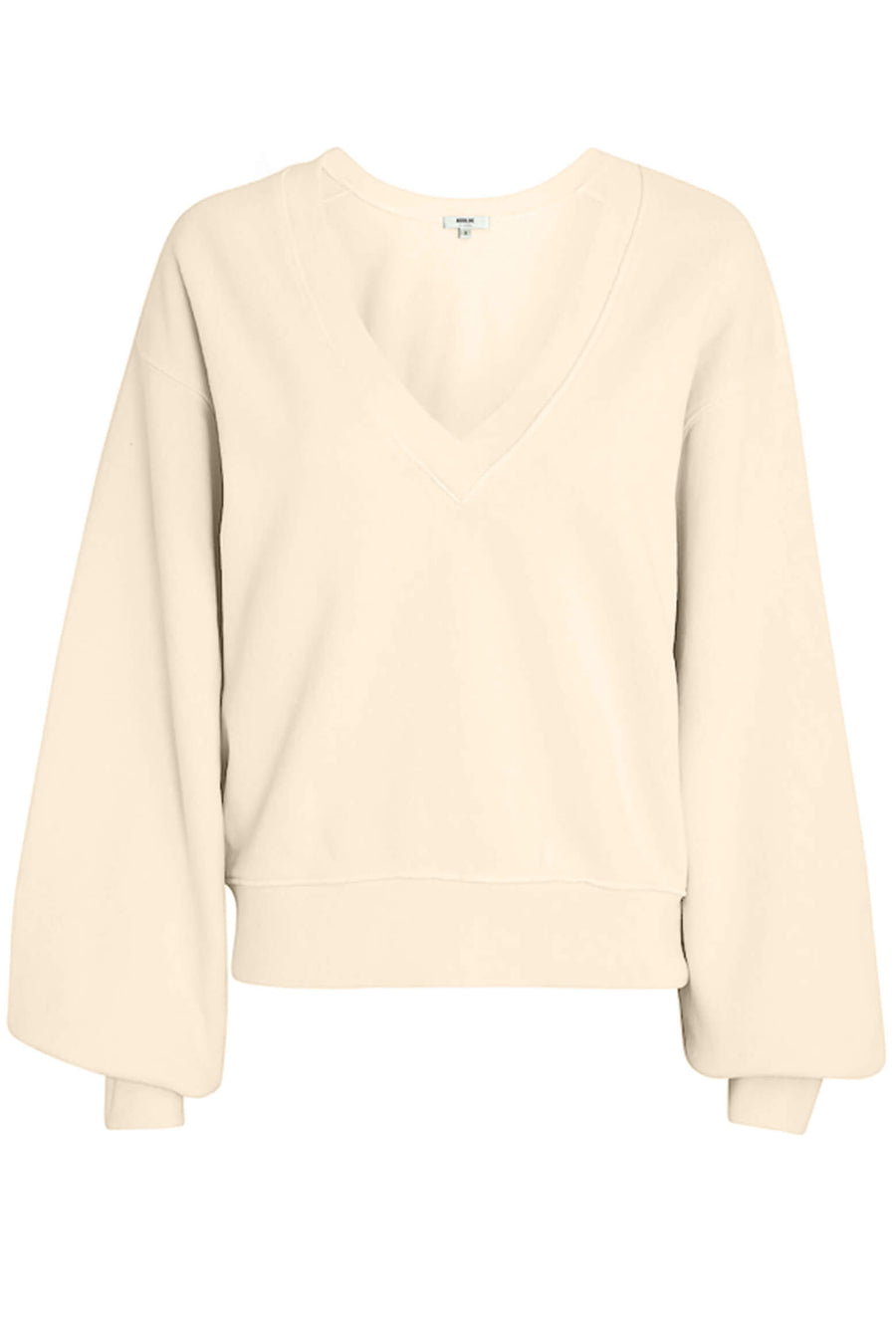 Agolde V Neck Balloon Sleeve Sweatshirt in Penne available at The New Trend