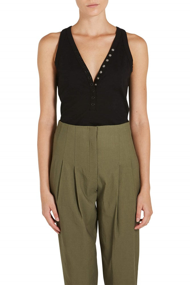 T By Alexander Wang Compact Jersey Snap Bodysuit from The New Trend