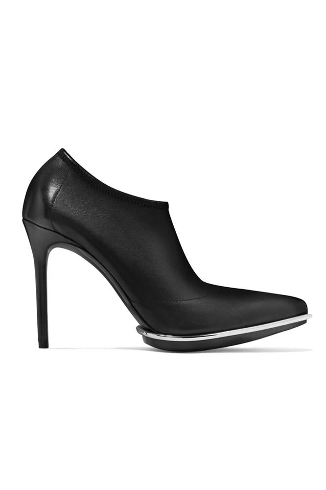 CARA BLACK STRETCH LEATHER BOOT