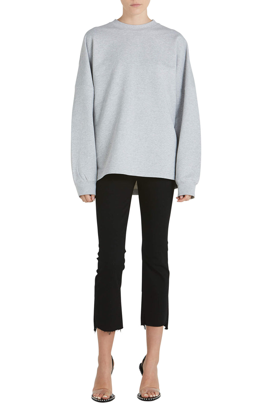 T By Alexander Wang Dry French Terry Crewneck Sweatshirt Back