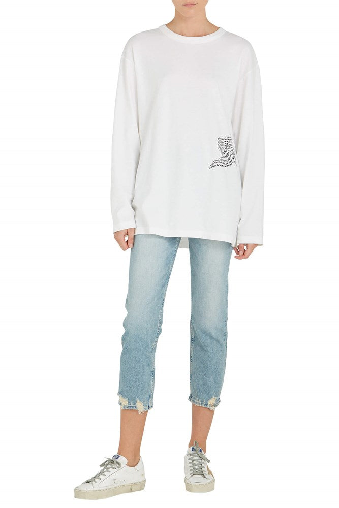 T by Alexander Wang High Twist Jersey L/S Tee from The New Trend