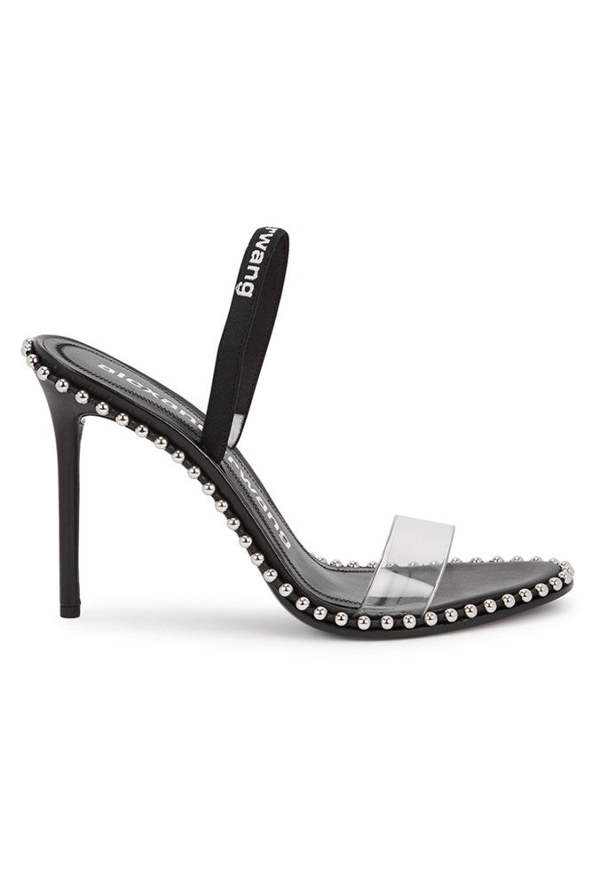 Alexander Wang Nova Black Logo Slingback from The New Trend