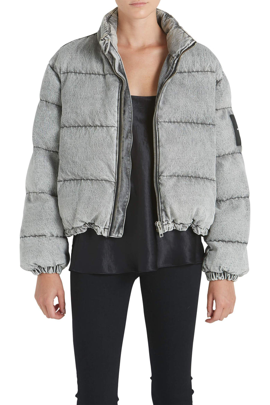 Alexander Wang Puffer Jacket in Light Grey from The New Trend