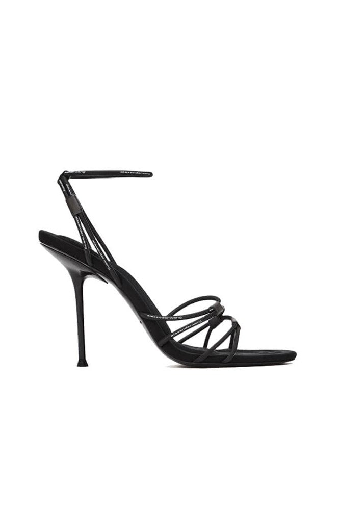 Alexander Wang Sienna Logo Bungee Heel in Black from The New Trend