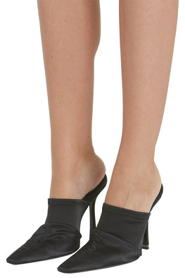 Alexander Wang Black Satin Vanna Mules from The New Trend