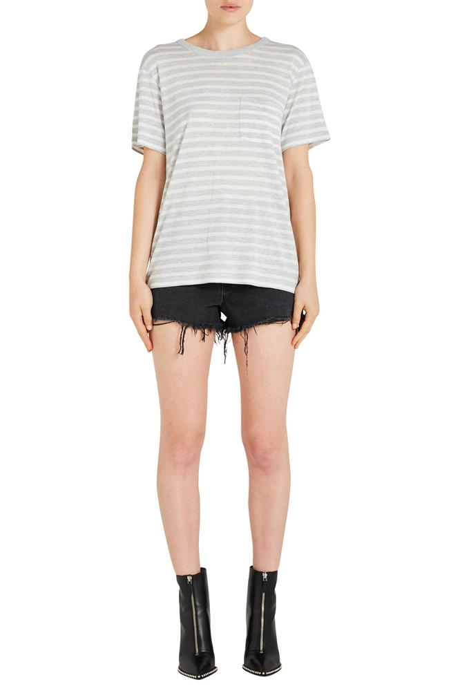 WIDE STRIPED SLUB JERSEY TSHIRT