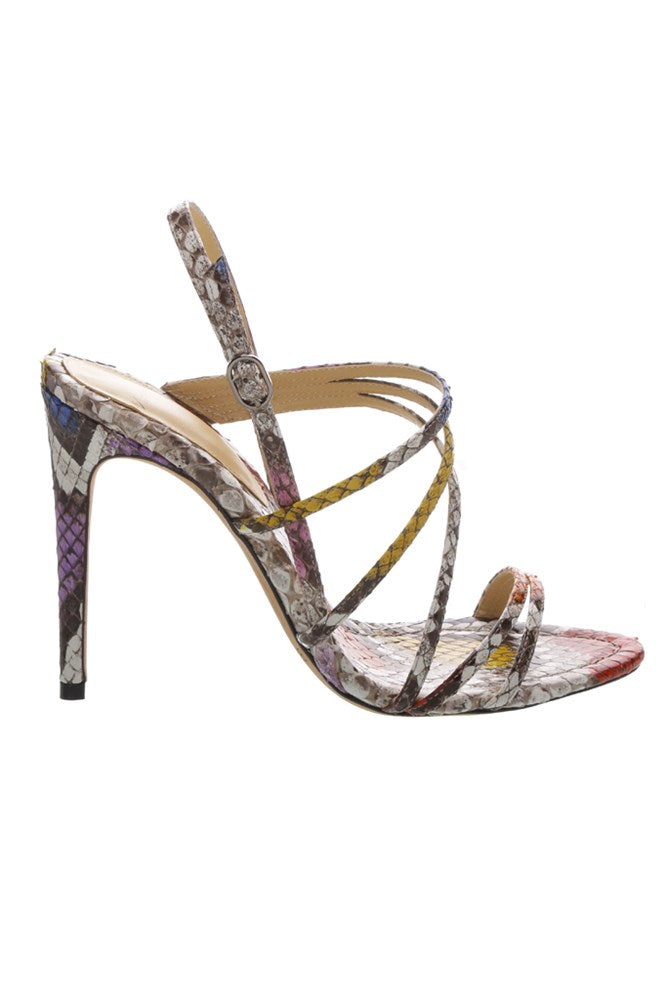 Alexandre Birman Strappy Python Heels from The New Trend