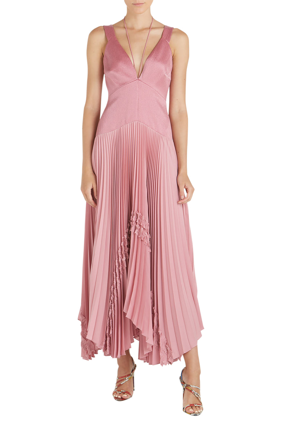Alexis Bellona Pleated Maxi Dress in Violet from The New Trend