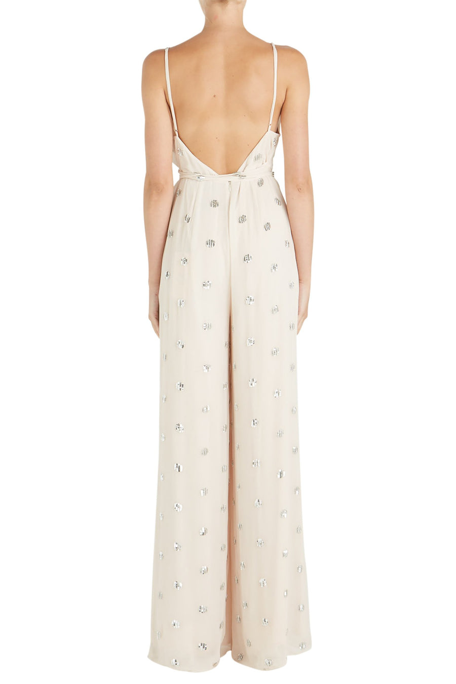 Alexis Cosmina Jumpsuit in Embellished Cream from The New Trend
