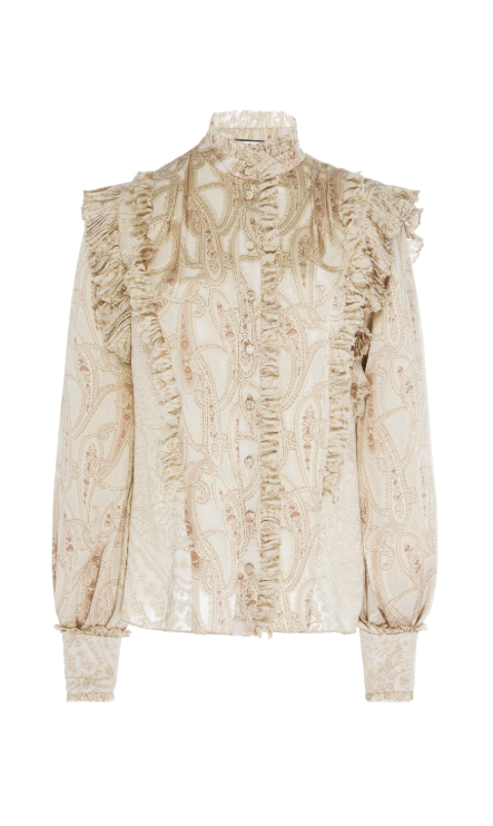 Alexis Eline Long Sleeve Top in Cream Paisley from The New Trend