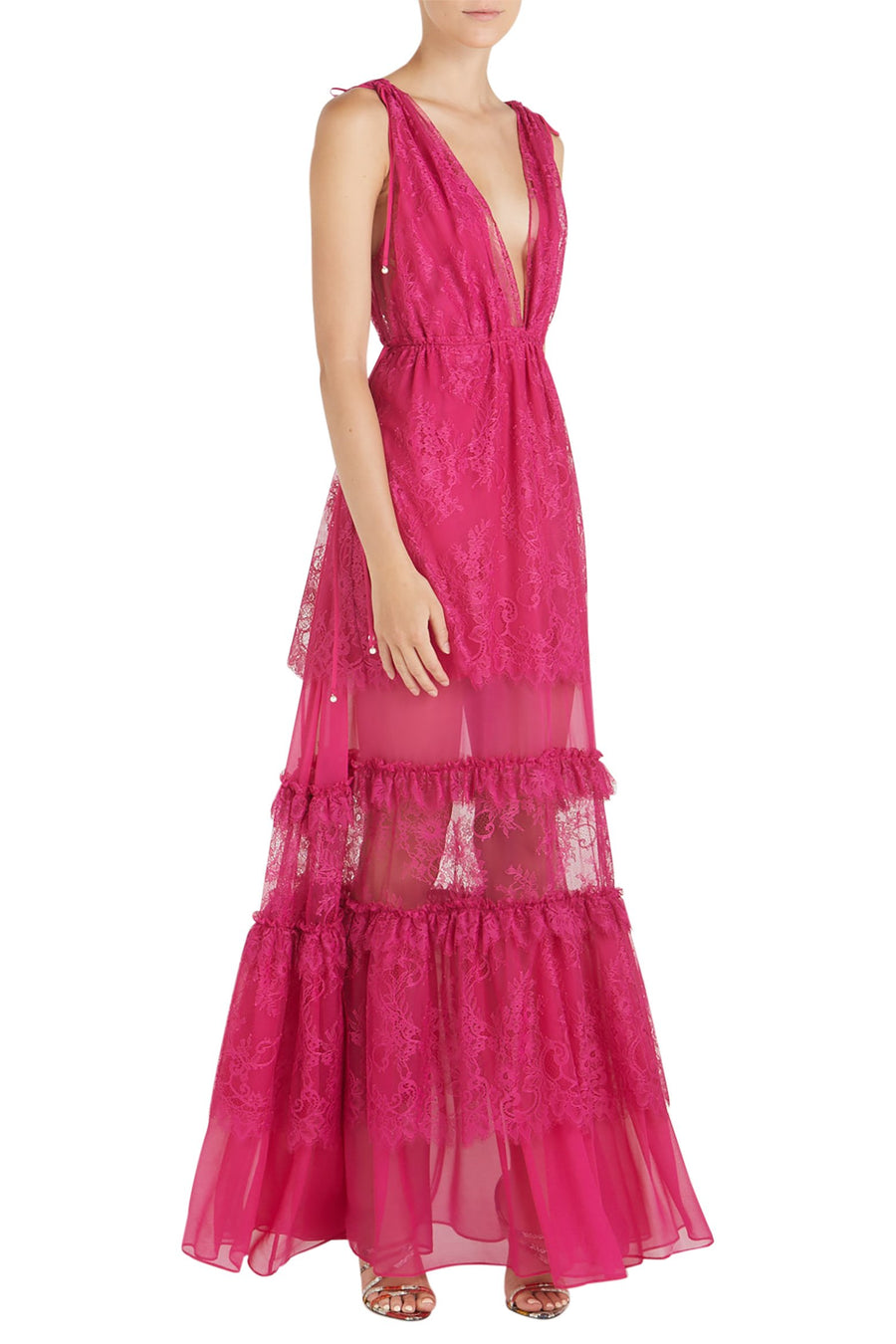 Alexis Umbria Deep V Maxi Dress in Fuchsia from The New Trend