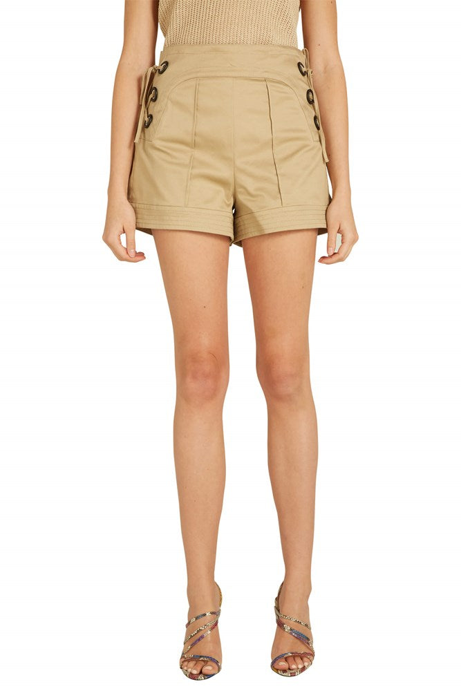 Alexis Winnick Shorts in Tan from The New Trend
