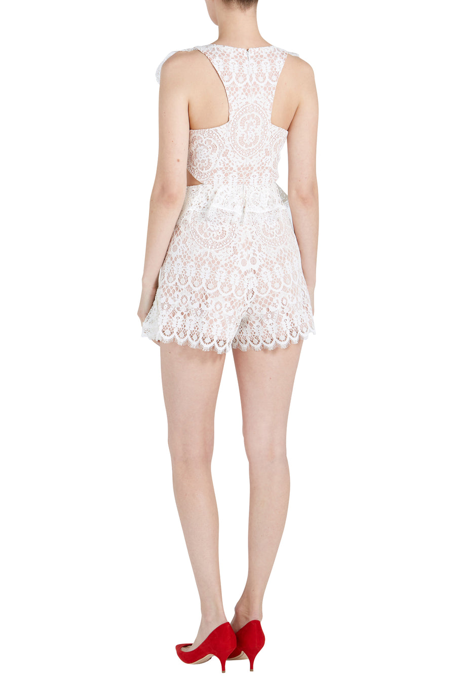 BAR LACE ROMPER