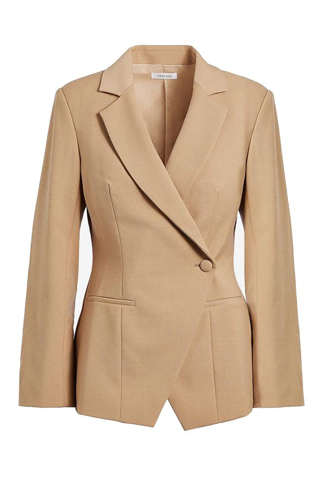 Anine Bing Ade Blazer in Beige from The New Trend