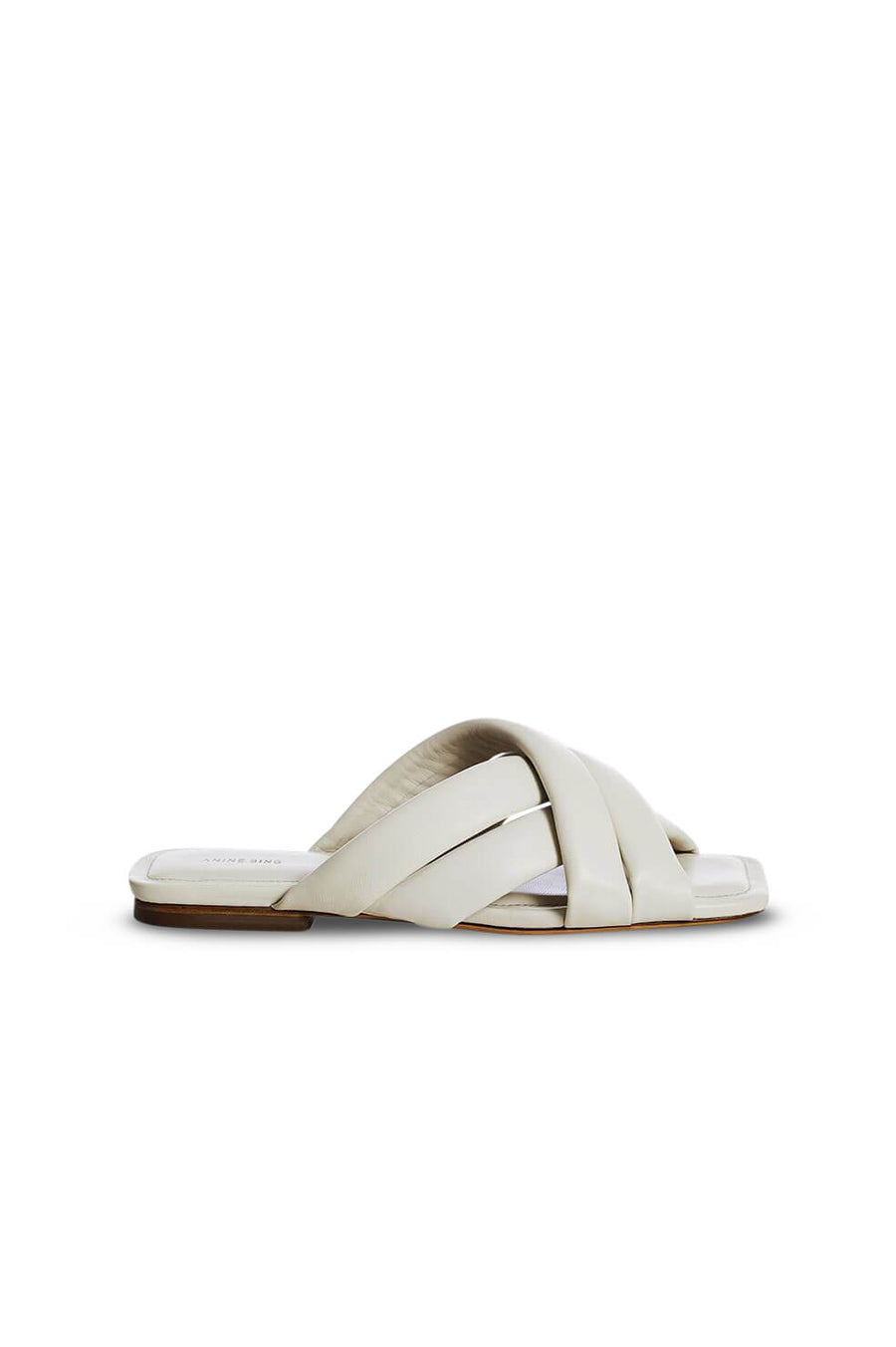 Anine Bing Eve Sandals in Ivory from The New Trend