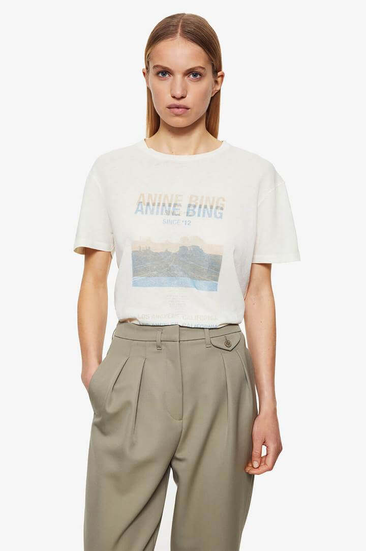 Anine Bing Harper Tee Desert Rose from The New Trend