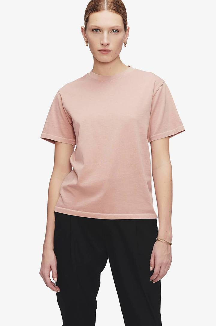 Anine Bing Hudson Tee in washed pink from The New Trend