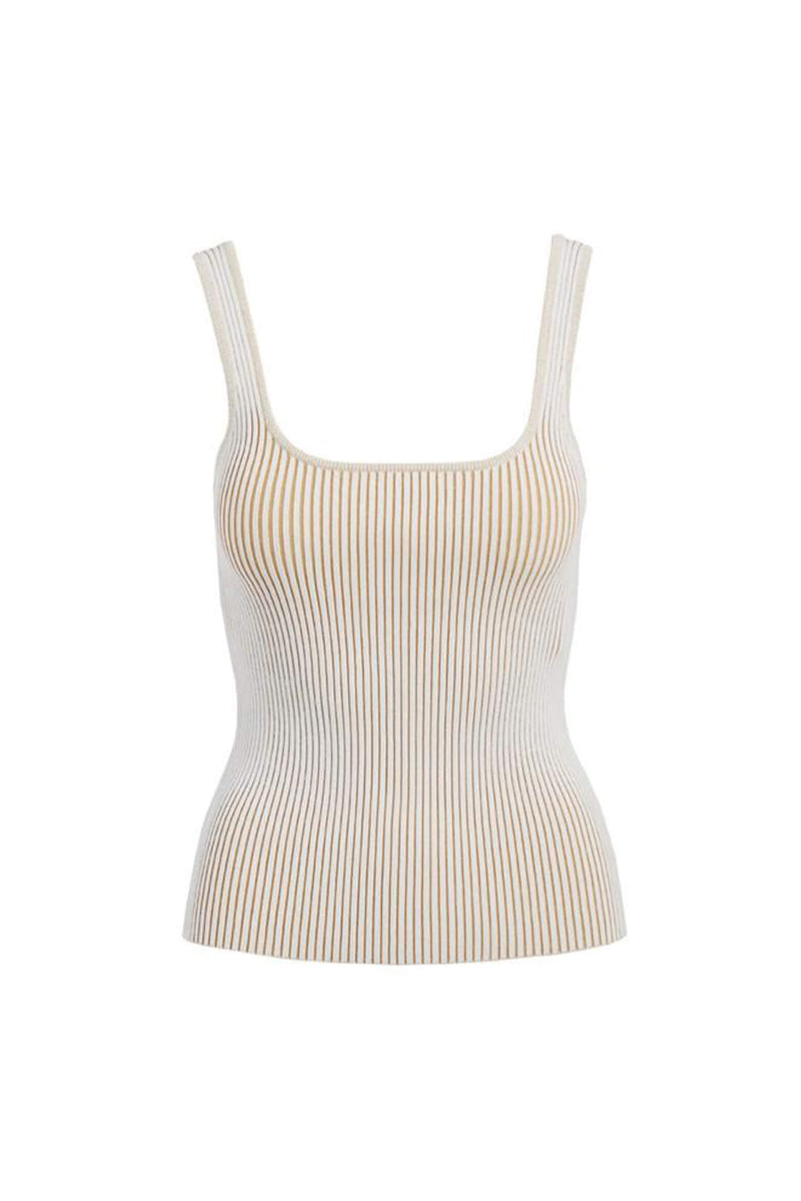 Anine Bing Josie Tank in Camel Ivory from The New Trend