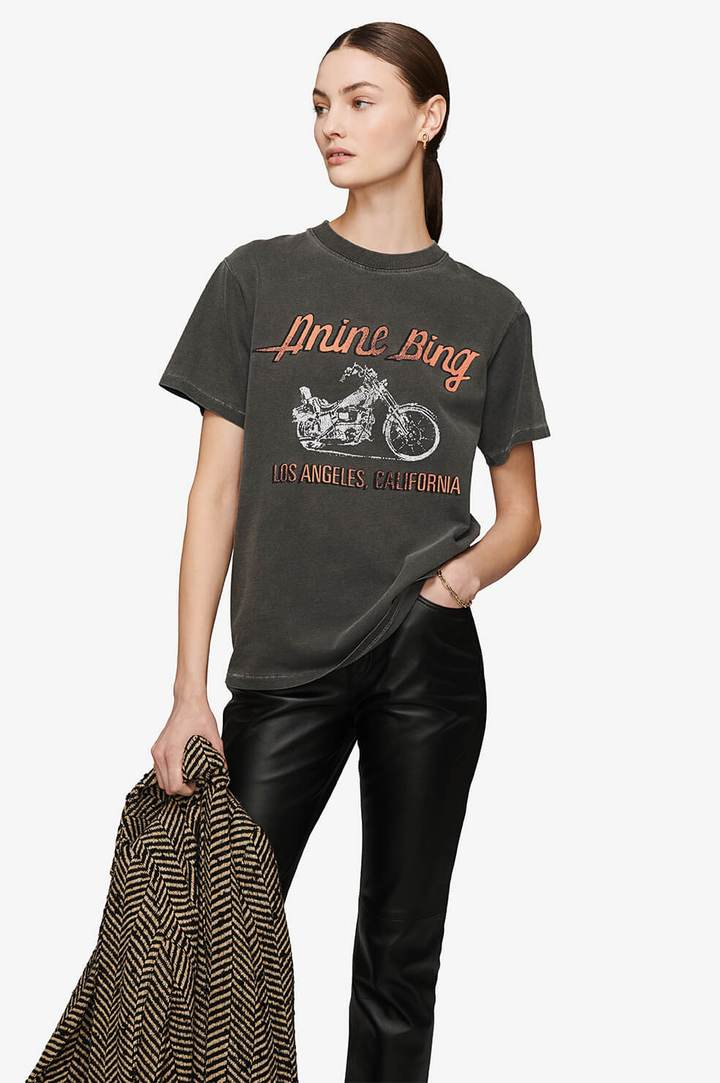Anine Bing Lili Motorcycle Tee from The New Trend
