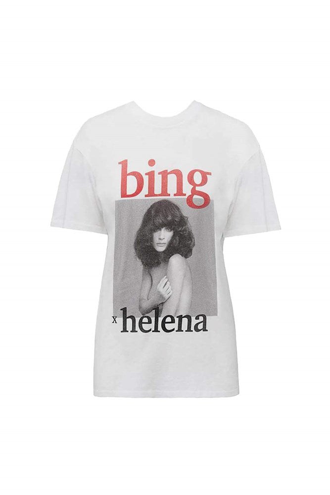 Anine Bing Lili Tee AB x HC in White from The New Trend