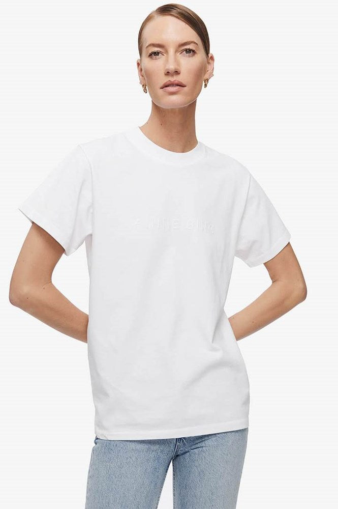 Anine Bing Lili Tee in Tonal White from The New Trend