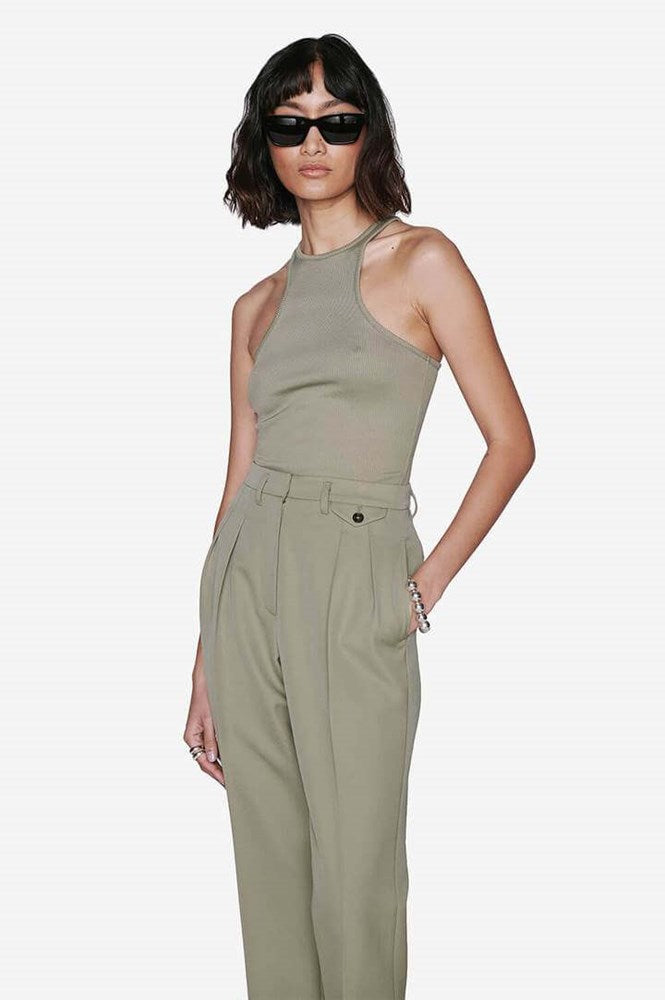 Anine Bing Morgan Tank in Khaki from The New Trend