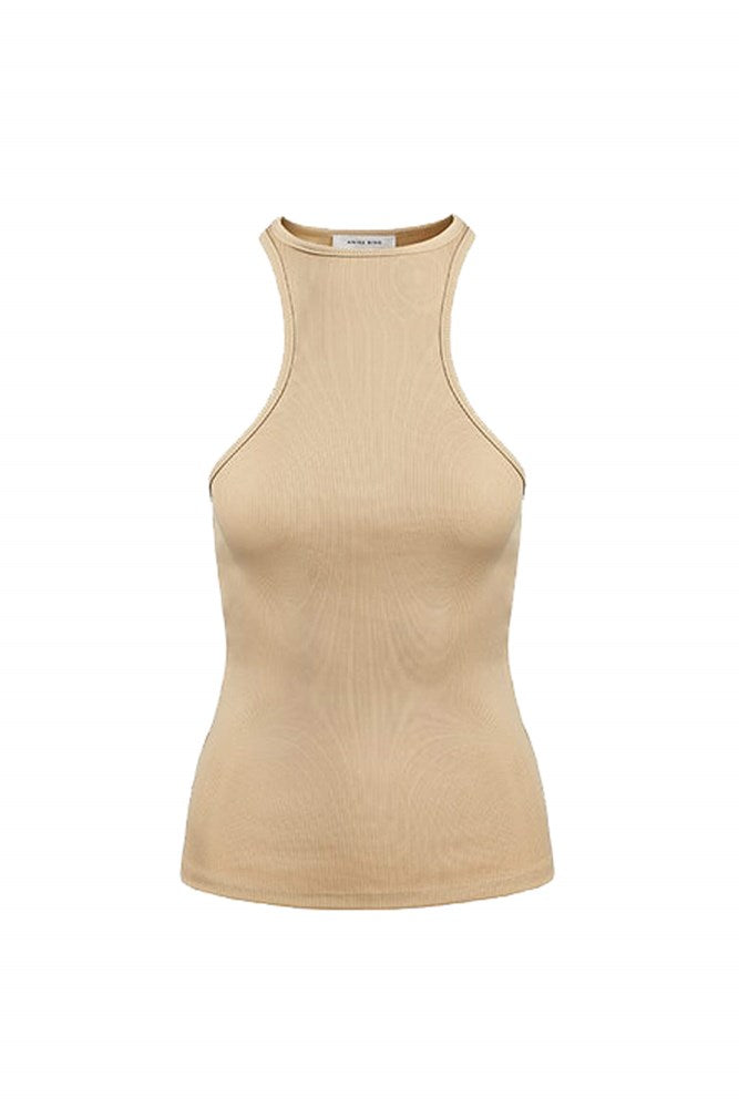 Anine Bing Morgan Tank in Oat from The New Trend