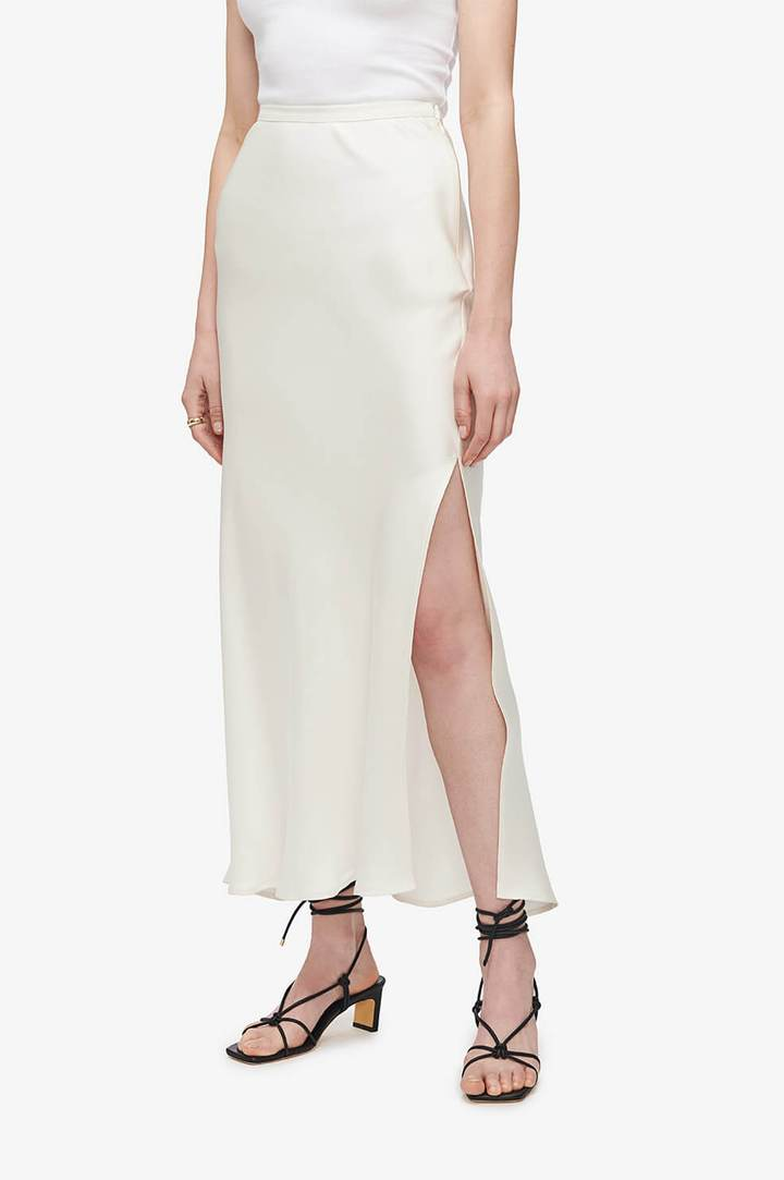 Anine Bing Noel Skirt in Ivory from The New Trend