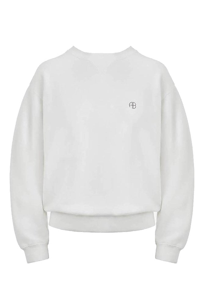 Anine Bing Ramona Sweatshirt Outlaw in White from The New Trend