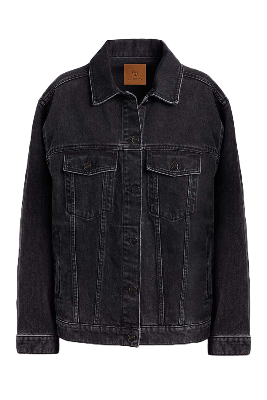 Anine Bing Rory Denim Jacket in Black from The New Trend