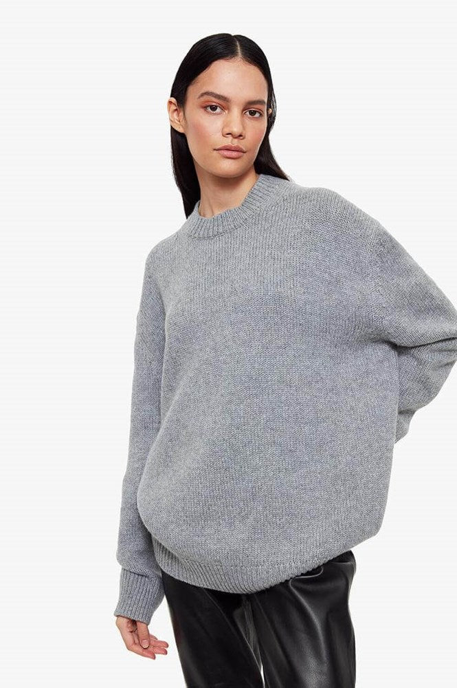 Anine Bing Rosie Sweater in Grey from The New Trend