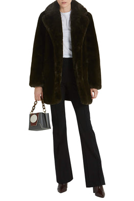 Apparis Sophie Coat in Army Green from The New Trend Styled