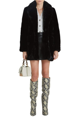 Apparis Sophie Coat in Black from The New Trend Styled